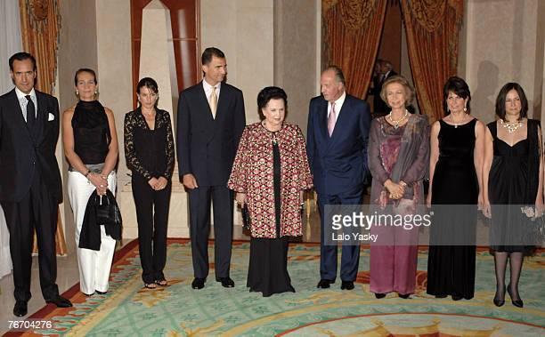 Jaime de Marichalar Princess Elena Princess LetiziaPrince Felipe Mstislav Rostropovich widow GalinaKing Juan Carlos Queen Sofia Mstislav Rostropovich...