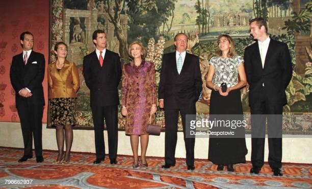 Jaime de MarichalarElenaFelipeQueen SophieKing Juan Carlos Cristina and Inaki Urdangarin