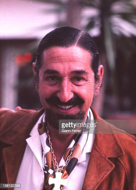 Jaime de Mora y Aragon spanish playboy and brother of the Belgian Queen Fabiola in the garden of his house of Marbella First January 1973 Malaga Spain