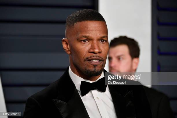 Jaime Foxx attends the 2019 Vanity Fair Oscar Party hosted by Radhika Jones at Wallis Annenberg Center for the Performing Arts on February 24 2019 in...