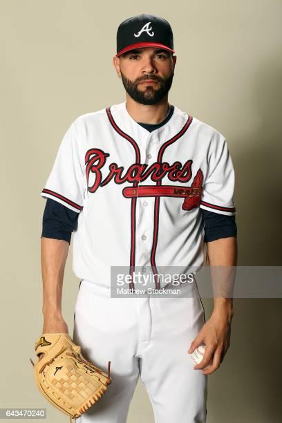 Jaime Garcia poses for a portrait during Atlanta Braves Photo Day at Champion Stadium on February 21 2017 in Lake Buena Vista Florida