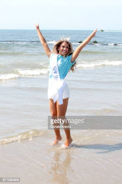 Jaime Gialloreto the new Miss New Jersey 2018 frolics in the Atlantic Ocean on June 17 2018 in Ocean City New Jersey