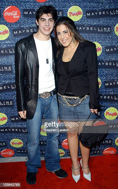 Jaime Gleicher and her brother Mike during Teen People's 5th Annual What's Next Party at Crobar in New York City New York United States
