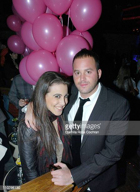 Jaime Gleicher and Zev Norotsky during Birthday Party for Zev Norotsky at the Pink Elephant in New York City January 17 2007 at Pink Elephant in New...