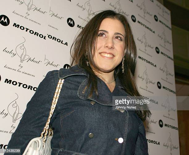 Jaime Gleicher during Olympus Fashion Week Fall 2004 Baby Phat Front Row and Backstage at Gotham Hall in New York City New York United States