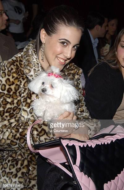 Jaime Gleicher with her dog Star and World According to Jess handbag