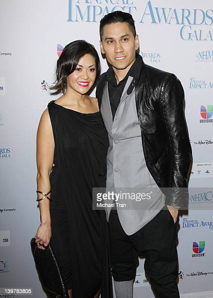 Jaime Gomez aka Taboo of The Black Eyed Peas and his wife Jaymie Dizon arrive at the 15th Annual Impact Awards held at the Beverly Wilshire Four...