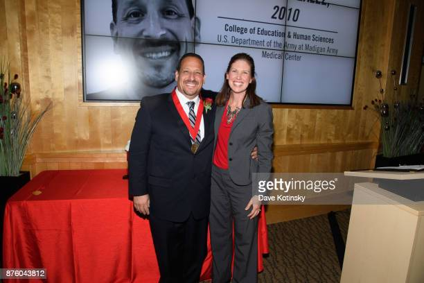 Jaime Gonzalez US Department of the Army at Madigan Army Medical Center and Shelley Zaborowski Nebraska Alumni Association Executive Director at the...