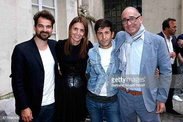 Jaime Hayon Clemence Krzentowski Andre Saraiva and Didier Krzentowski attend the 'Alaia' Azzedine Alaia Perfum Launch Party on May 21 2015 in Paris...