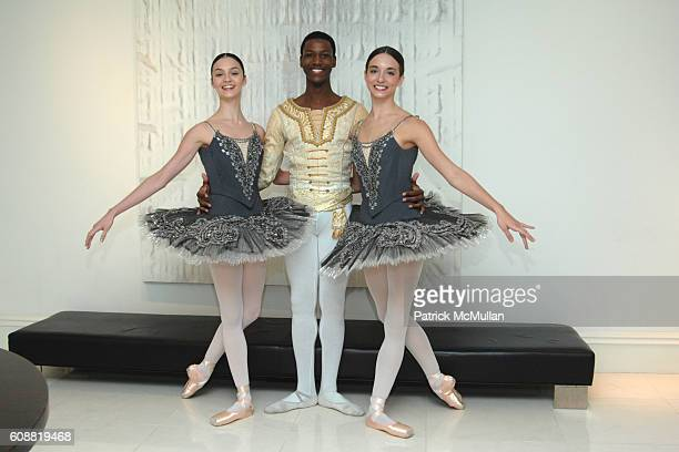 Jaime Hickey Calvin Royal and April Giangeruso attend AMERICAN BALLET THEATRE'S Dinner with Dancers at The homes of Julia and David Koch on October 1...