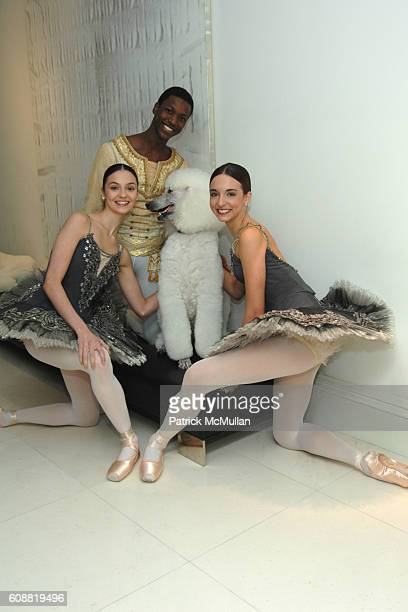 Jaime Hickey Calvin Royal Gem and April Giangeruso attend AMERICAN BALLET THEATRE'S Dinner with Dancers at The homes of Julia and David Koch on...