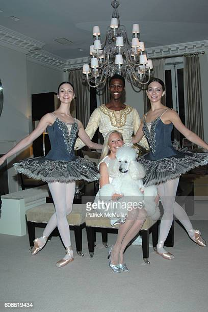 Jaime Hickey Calvin Royal Karen LeFrak and April Giangeruso attend AMERICAN BALLET THEATRE'S Dinner with Dancers at The homes of Julia and David Koch...