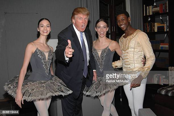 Jaime Hickey Donald Trump April Giangeruso and Calvin Royal attend AMERICAN BALLET THEATRE'S Dinner with Dancers at The homes of Julia and David Koch...