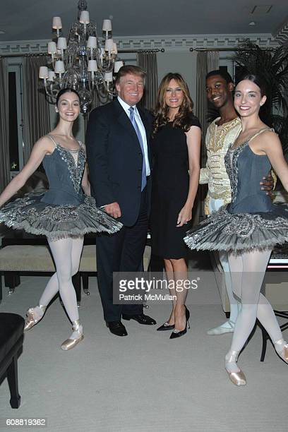 Jaime Hickey Donald Trump Melania Trump Calvin Royal and April Giangeruso attend AMERICAN BALLET THEATRE'S Dinner with Dancers at The homes of Julia...
