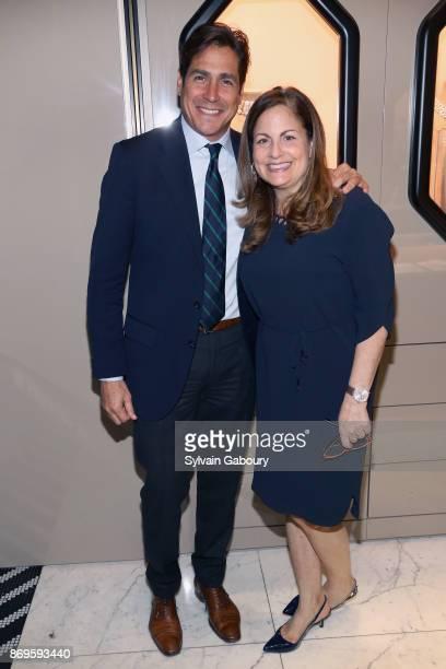 Jaime Jimenez and Laurie Adorno attend Quest Nirav Modi Champagne Reception on November 2 2017 in New York City