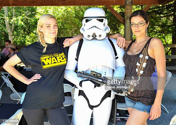 Jaime King and Adrianne Curry attend the Course Of The Force 2013 An Epic Lightsaber Relay Benefiting MakeAWish Foundation at Skywalker Ranch on July...