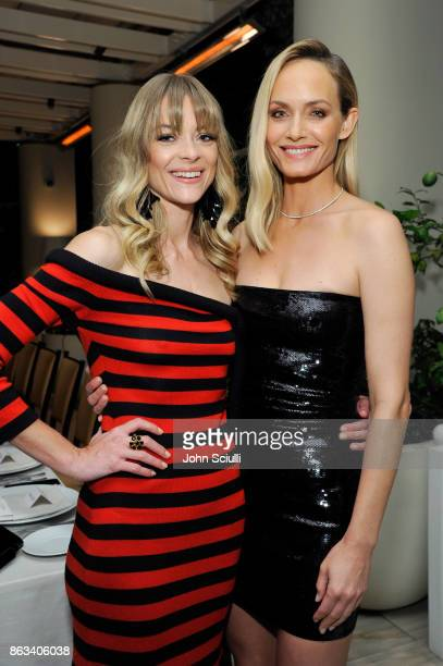 Jaime King and Amber Valletta attend THE OUTNET x Amber Valletta at Waldorf Astoria Beverly Hills on October 19 2017 in Beverly Hills California
