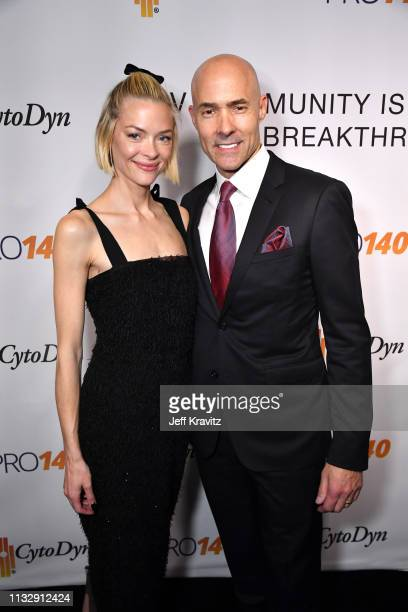 Jaime King and Chris Clark attend CytoDyn's Pro 140 Awareness Event for HIV and Cancer Prevention at The Roosevelt Hotel in Hollywood on February 28...