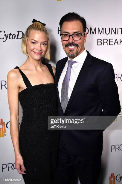 Jaime King and Dr Richard G Pestell attend CytoDyn's Pro 140 Awareness Event for HIV and Cancer Prevention at The Roosevelt Hotel in Hollywood on...