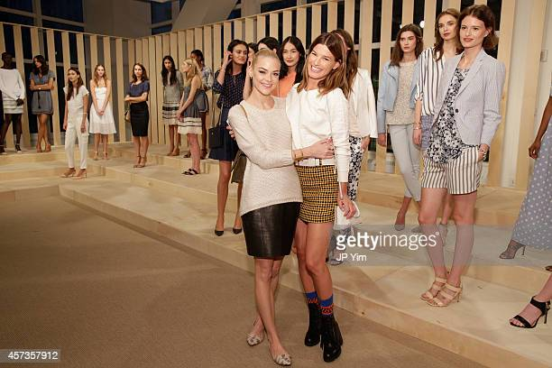 Jaime King and Hanneli Mustaparta attend the Ann Taylor Spring/Summer 2015 Presentation on October 16 2014 in New York City
