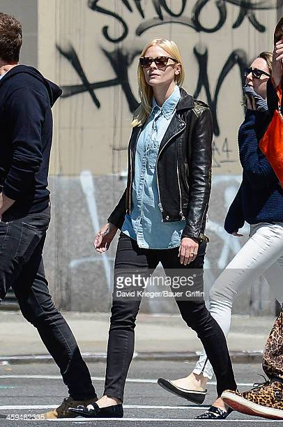Jaime King and Kyle Newman are seen on May 05 2013 in New York City