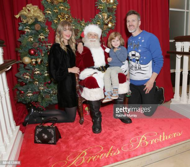 Jaime King and Kyle Newman attend the Brooks Brothers holiday celebration with St Jude Children's Research Hospital at Brooks Brothers Rodeo on...