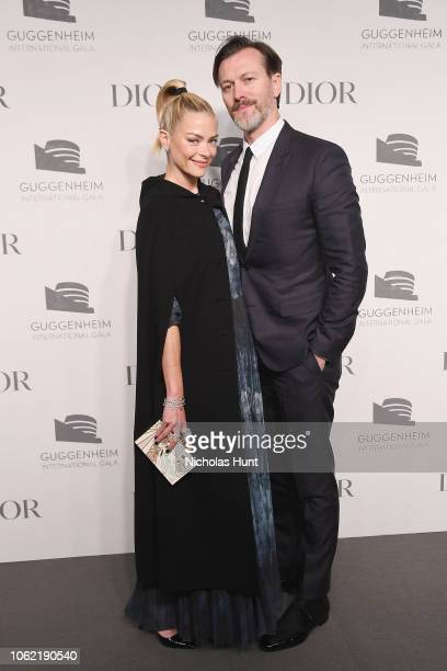Jaime King and Kyle Newman attend the Guggenheim International Gala Dinner made possible by Dior at Solomon R Guggenheim Museum on November 15 2018...
