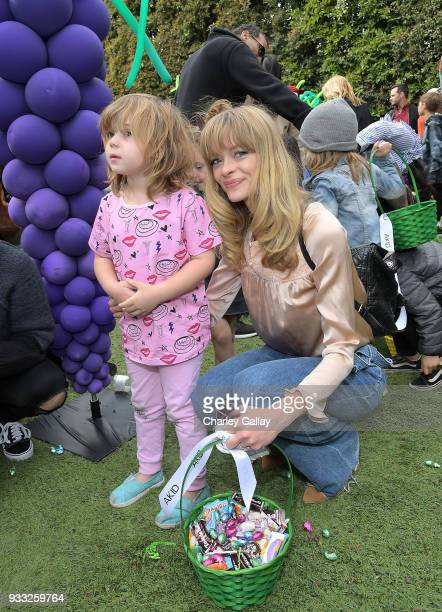 Jaime King and son James Knight attend AKID Brand's 3rd Annual 'The Egg Hunt' at Lombardi House on March 17 2018 in Los Angeles California
