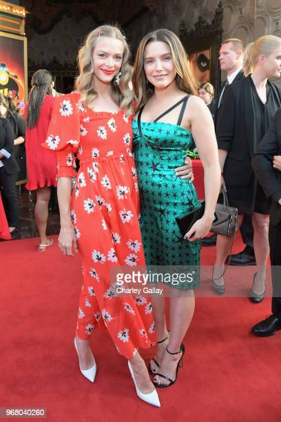 Jaime King and Sophia Bush attend the World Premiere Of DisneyPixar's 'Incredibles 2' at El Capitan Theatre on June 5 2018 in Los Angeles California