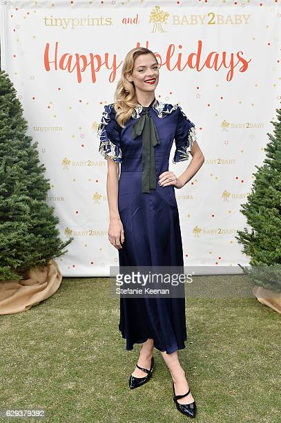 Jaime King attend Tiny Prints Presents The Baby2Baby Snow Day at The Grove on December 12 2016 in Los Angeles California
