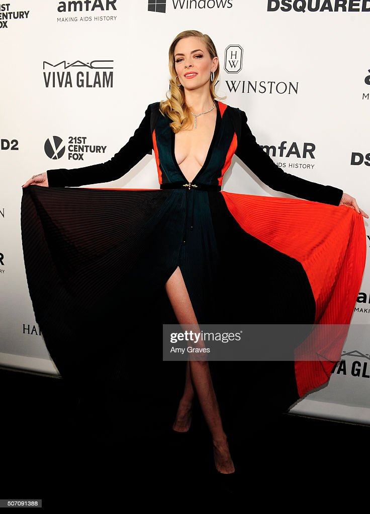 Jaime King attends amfAR's Inspiration Gala in Los Angeles on September 9, 2015 in Hollywood, California.