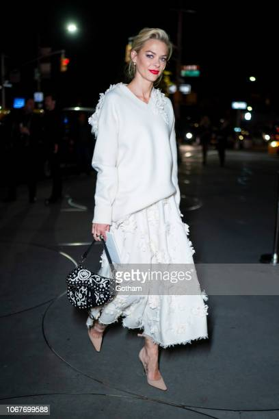 Jaime King attends the 2018 Guggenheim International Gala preparty in the Upper East Side on November 14 2018 in New York City