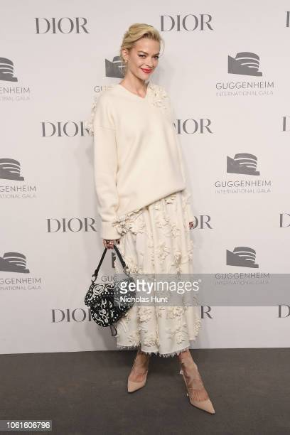 Jaime King attends the 2018 Guggenheim International Gala PreParty made possible by Dior at Solomon R Guggenheim Museum on November 14 2018 in New...
