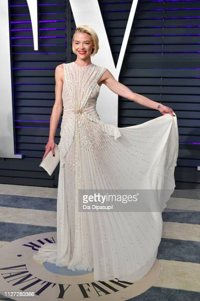 Jaime King attends the 2019 Vanity Fair Oscar Party hosted by Radhika Jones at Wallis Annenberg Center for the Performing Arts on February 24 2019 in...