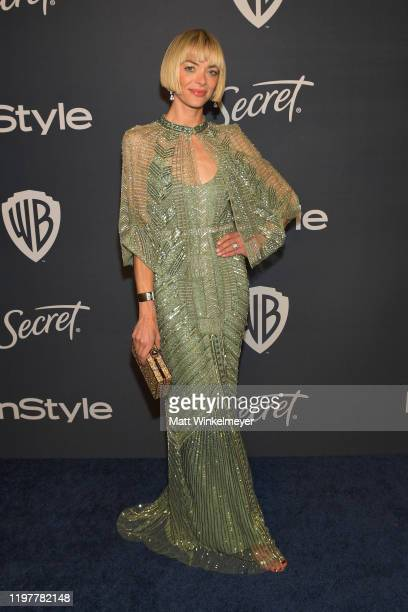Jaime King attends The 2020 InStyle And Warner Bros. 77th Annual Golden Globe Awards Post-Party at The Beverly Hilton Hotel on January 05, 2020 in...