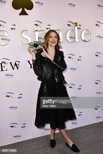 Jaime King attends the Kate Spade New York Fall 2016 Presentation during New York Fashion Week at The Rainbow Room on February 12 2016 in New York...