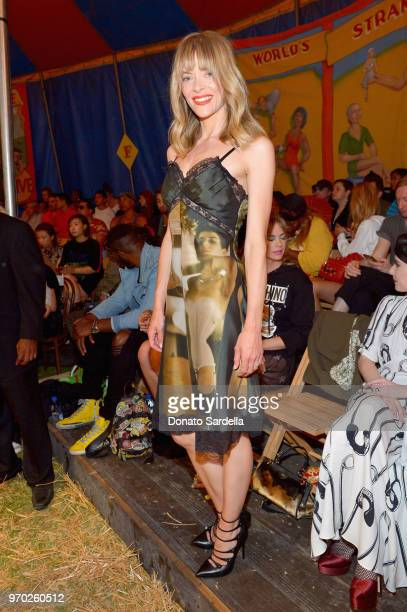 Jaime King attends the Moschino Spring/Summer 19 Menswear and Women's Resort Collection at Los Angeles Equestrian Center on June 8 2018 in Burbank...