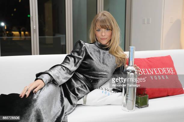 Jaime King celebrates WWD's The Art Of Fashion exhibit with Belvedere Vodka at Art Basel on December 4 2017 in Miami Florida