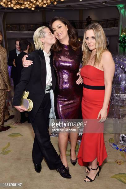 Jaime King Celeste Barber and Alicia Silverstone attend The Daily Front Row Fashion LA Awards 2019 on March 17 2019 in Los Angeles California