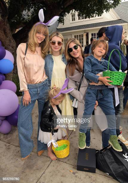 Jaime King Emma Roberts and Selma Blair and son Arthur Bleick attend AKID Brand's 3rd Annual 'The Egg Hunt' at Lombardi House on March 17 2018 in Los...