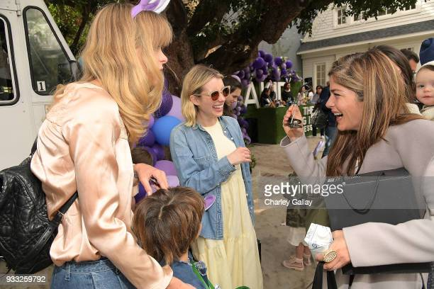 Jaime King Emma Roberts and Selma Blair attend AKID Brand's 3rd Annual 'The Egg Hunt' at Lombardi House on March 17 2018 in Los Angeles California