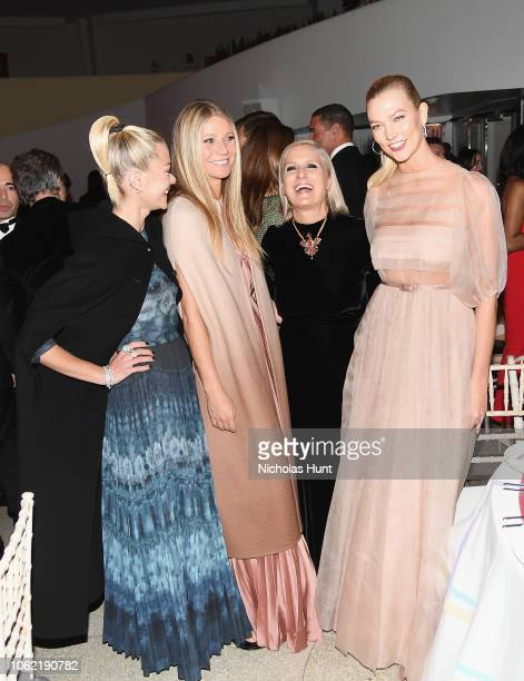 Jaime King Gwyneth Paltrow Maria Grazia Chiuri and Karlie Kloss attend the Guggenheim International Gala Dinner made possible by Dior at Solomon R...