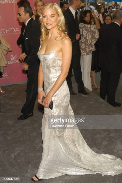 Jaime King in Calvin Klein during The 2003 CFDA Fashion Awards Arrivals at New York Public Library in New York City New York United States