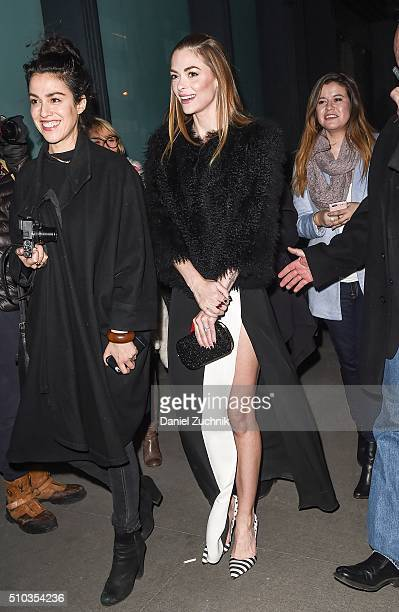 Jaime King is seen outside the DVF show during New York Fashion Week: Women's Fall/Winter 2016 on February 14, 2016 in New York City.