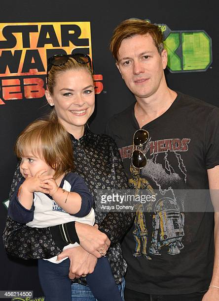 Jaime King James Knight Newman and Kyle Newman attend the Disney XD's Star Wars Rebels Spark Of Rebellion Los Angeles special screening at AMC...