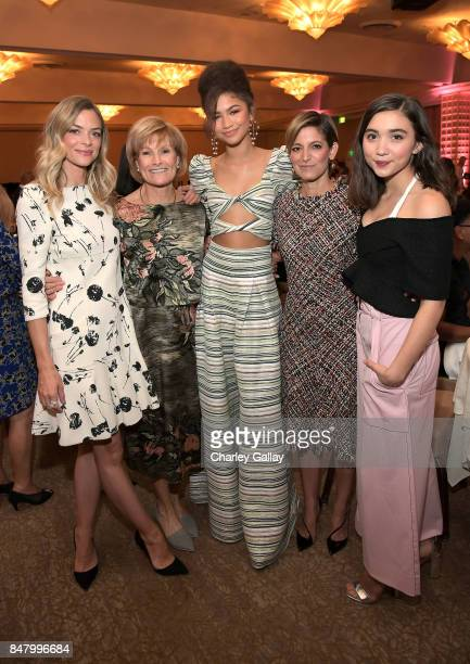 Jaime King Joan Wages Zendaya Cynthia Leive and Rowan Blanchard at the Women Making History Awards at The Beverly Hilton Hotel on September 16 2017...