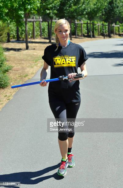 Jaime King races at the Course Of The Force 2013 An Epic Lightsaber Relay Benefiting MakeAWish Foundation at Skywalker Ranch on July 9 2013 in San...