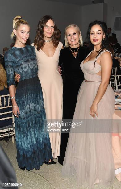 Jaime King Rachele Regini Maria Grazia Chiuri and Jorja Smith attend the Guggenheim International Gala Dinner made possible by Dior at Solomon R...