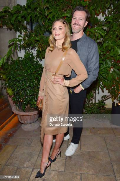 Jaime King wearing Max Mara and Kyle Newman attend the Max Mara Celebration for Alexandra Shipp 2018 Women In Film Max Mara Face Of The Future Award...
