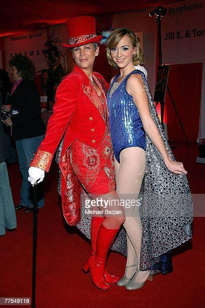Jaime Lee Curtis and Andrea Bowen pose at the 2007 Dream Halloween Under The Big Top hosted by Jaime Lee Curtis to benefit the Children Affected by...